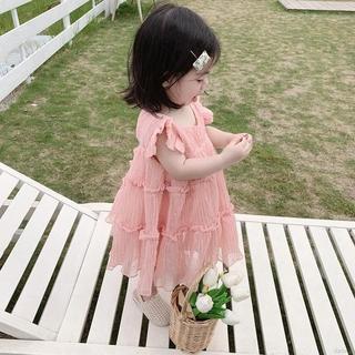 Đầm vải lưới không tay dễ thương cho bé gái