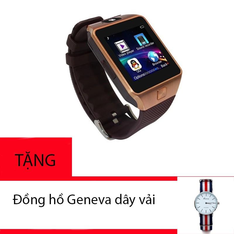 Đồng hồ thông minh SmartWatch DZ09 tặng kèm đồng hồ Geneva
