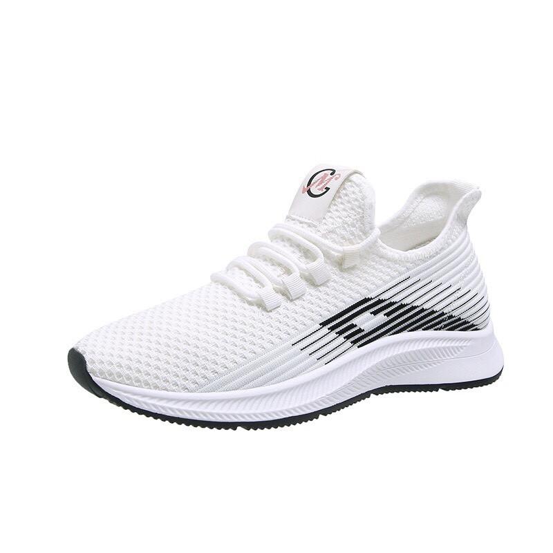 Giày sneaker nam nữ cao cấp giày thể thao nam trắng vải dệt thoáng khí freeship 2020 - fullsize