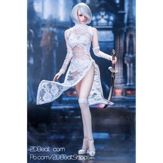 [Order] Bộ Trang Phục Manmodel 1/6 Lace Cheongsam White dành cho Body Phicen