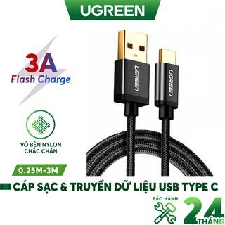 Dây USB 2.0 sang Type-C đầu mạ vàng dây bọc vinyl UGREEN US174 - Hàng chính hãng