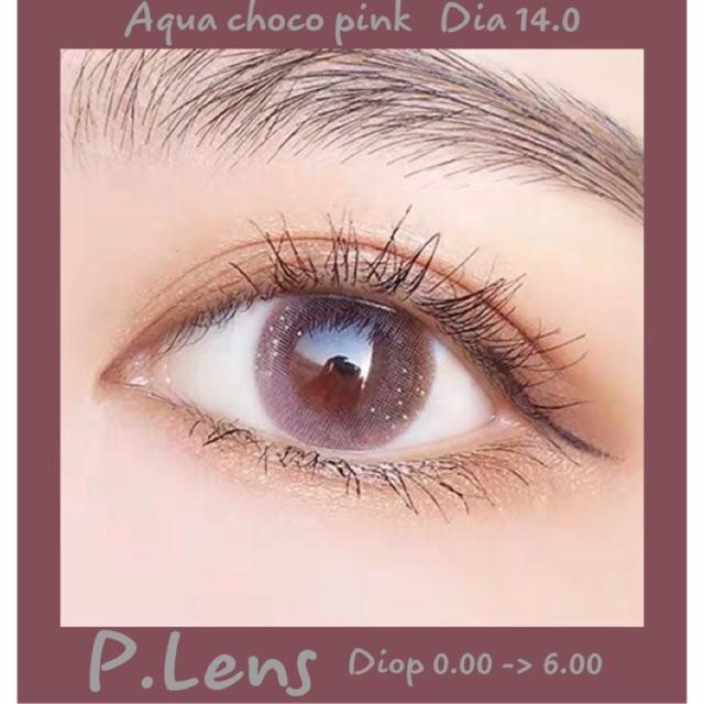 14.2 (0.00 -> 6.00) Aqua choco pink kính áp tròng