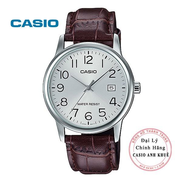 Đồng hồ nam Casio MTP-V002L-7B2UDF dây da