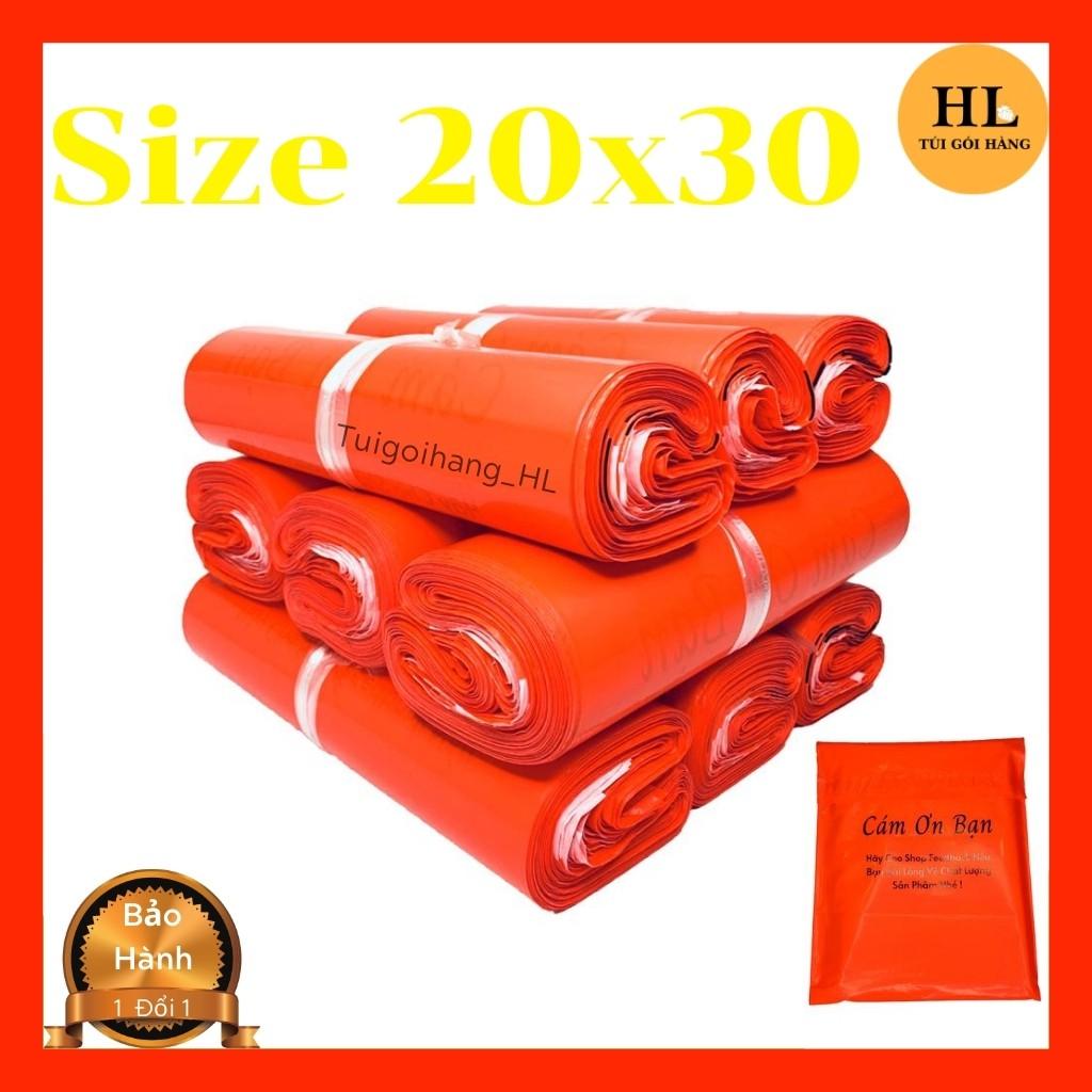 Túi Gói Hàng In Sẳn Thiệp Tri Ân & Khuyến Khích Khách Hành Đánh Giá Màu Đỏ Size 20x30