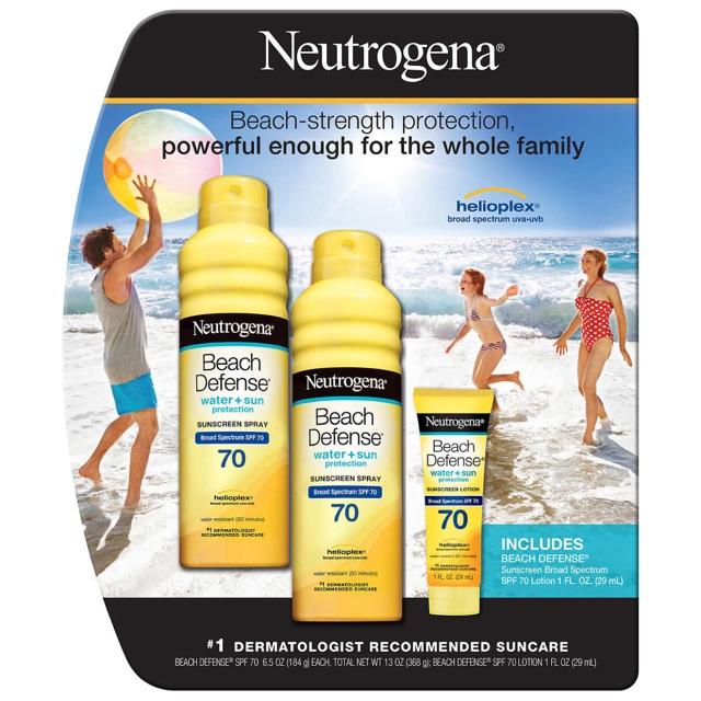 Set chống nắng Neutrogena spf 70* ( dạng xịt )