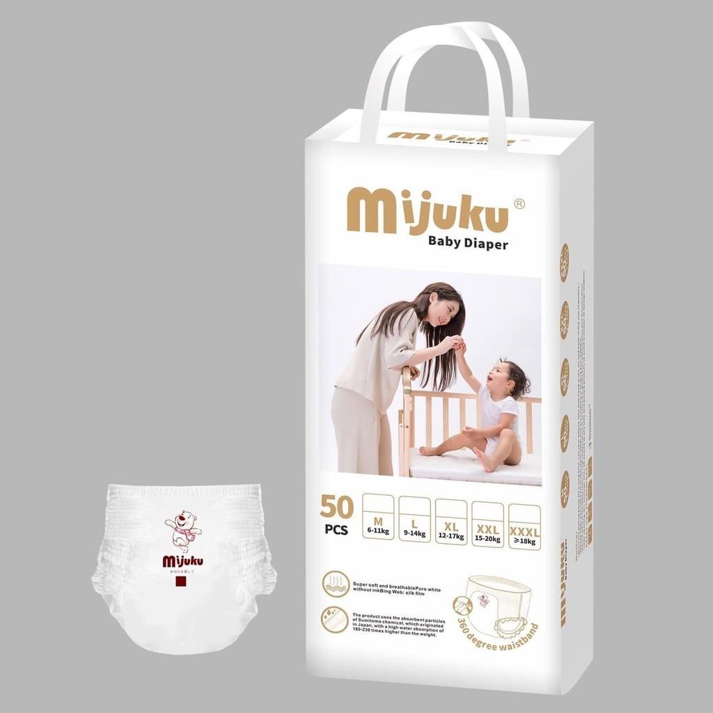 [Mã 267FMCGSALE giảm 8% đơn 500K] COMBO 50 miếng bỉm quần xuất Nhật MIJUKU đủ size M/L/XL/XXL