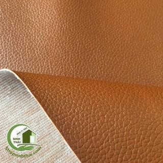 Phông nền chụp hình ảnh bằng vải giả da PVC màu nâu da bò - vải da may túi, làm dép, bọc ghế sofa [1m x khổ 1,4m] thumbnail