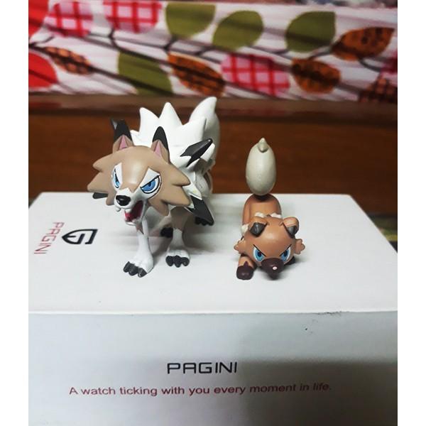 Combo 2 Mô hình Pokemon Tomy RockRuff And Lycanroc Midday S04