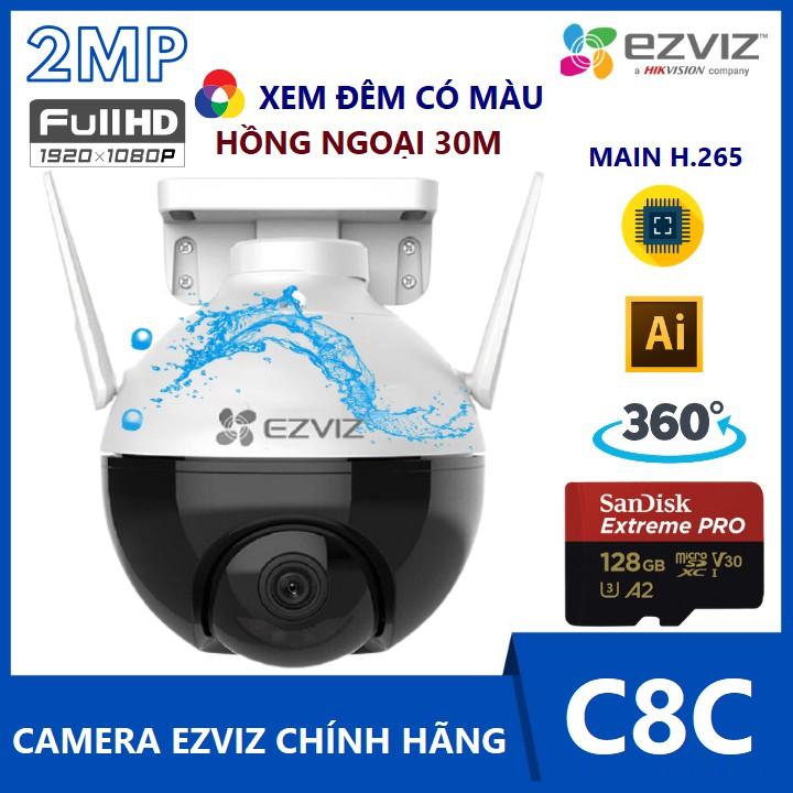 Camera Ezviz C8C - Camera Wifi Xoay 360° Cảm Biến AI Hồng Ngoại 30m Chính Hãng