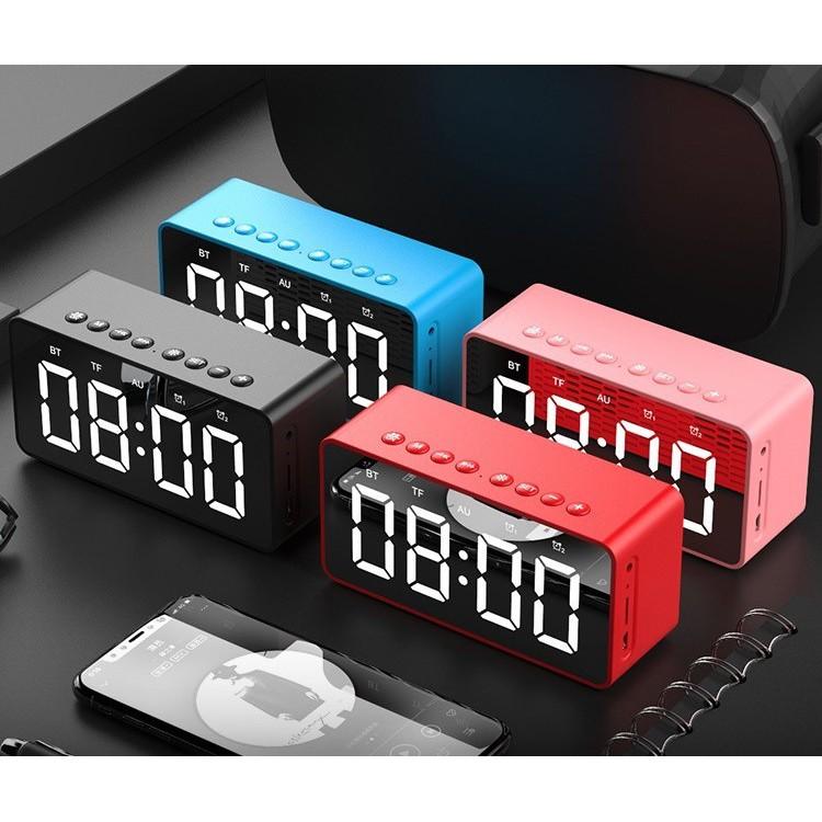 💥Loa Bluetooth thu FM💥 Đọc thẻ nhớ micro SD TF - kết nối ngõ AUX jắc 3.5mm máy tính có dây - đồng hồ bức Led .