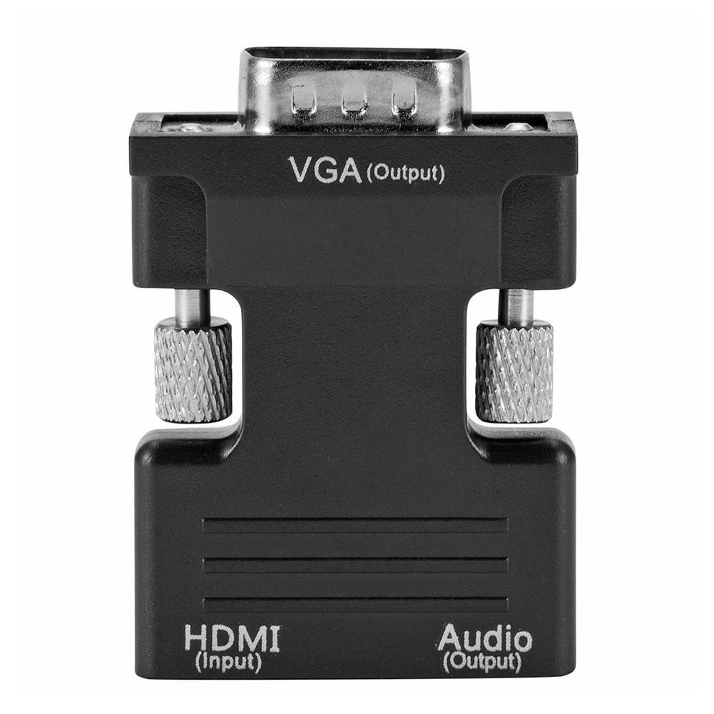 Bộ chuyển đổi phích cắm HDMI sang cổng cắm VGA kèm cáp âm thanh