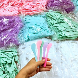 Que nhựa trộn và đắp mặt nạ, thìa nhựa trộn mask… tiện dụng Hàng Mới Cập Nhập