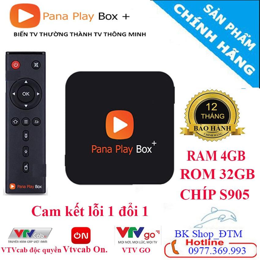 [CHÍNH HÃNG] Tivi box PANA PLAY BOX RAM 4GB ROM 32GB Tặng gói VtvCab 12 Tháng Miễ