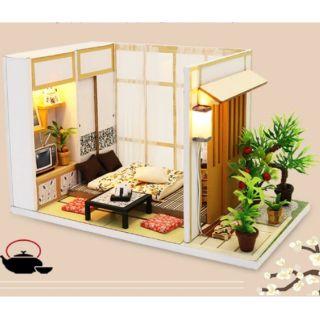 Kèm Mica – Mô hình nhà gỗ búp bê Dollhouse DIY – S902 Charming House