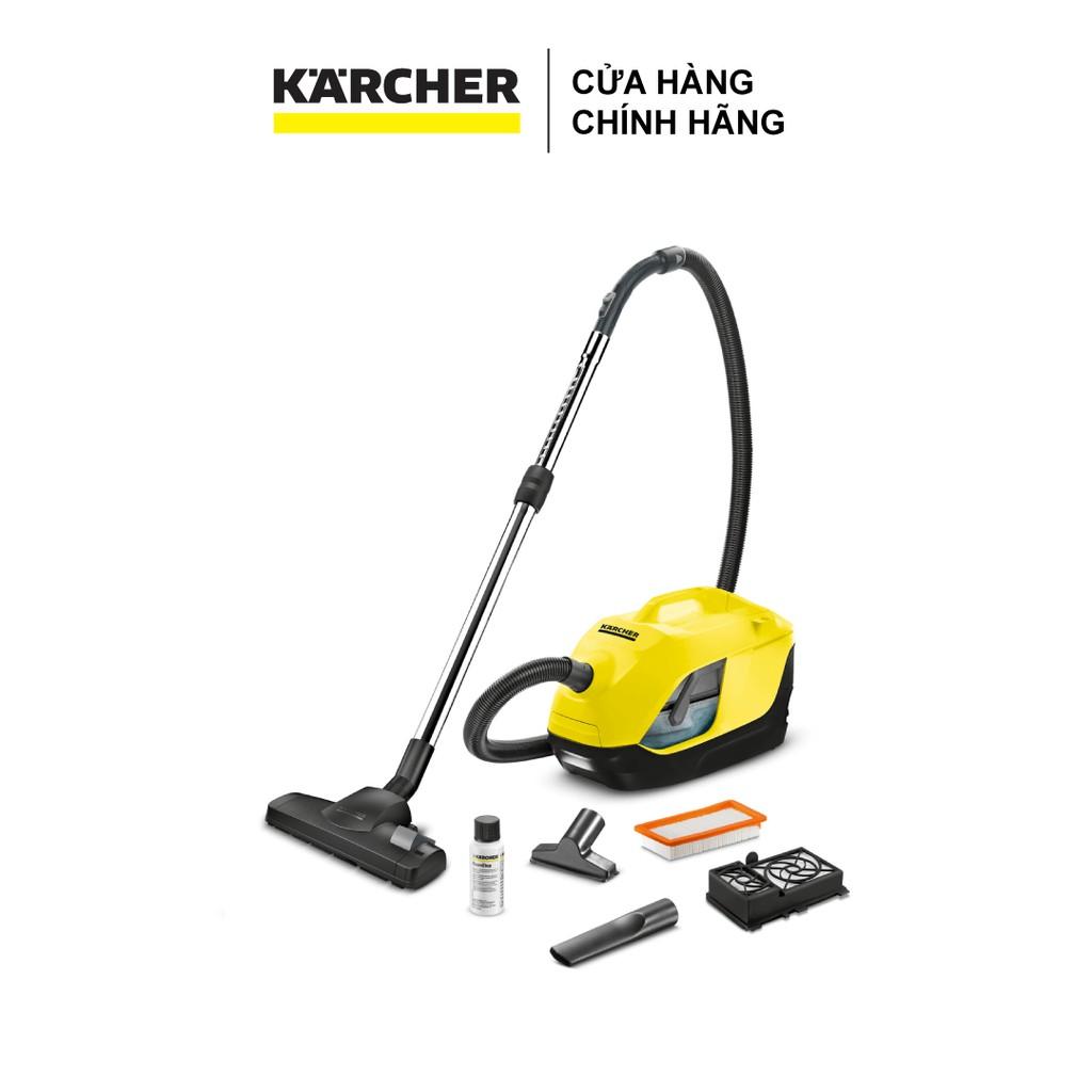 Máy hút bụi gia đình Karcher DS 6 sử dụng bộ lọc nước hiện đại , công suất  hút thực tế 650w cùng hệ thống lọc đa lốc - Máy hút bụi