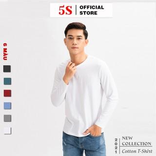 Áo Thun Nam Dài Tay Cổ Tròn 5S (6 màu), Chất Cotton Siêu Mát, Co Giãn Cực Tốt, Phom Ôm Trẻ Trung Năng Động
