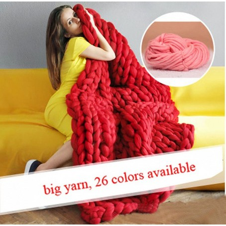 ♥superH♥Home Supplies 100% Wool 250g/Lot Super Chunky Yarn Bulky Roving Yarn for Arm Knitting Crocheting Felting Making