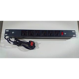Thanh nguồn điện 6 outlet đa năng 19 inch cho tủ rack – tủ mạng