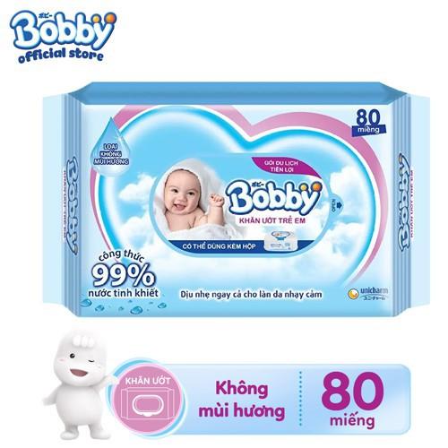 [Toàn quốc] Khăn ướt Bobby Không Mùi Gói Bổ Sung...