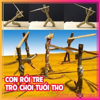 Bộ Đồ Chơi Con Rối Tre / Sống Lại Tuổi Thơ / Trò chơi dân gian truyền thống Việt Nam [HANDMADE]