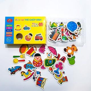 Hộp đồ chơi ghép hình song ngữ 92 chi tiết