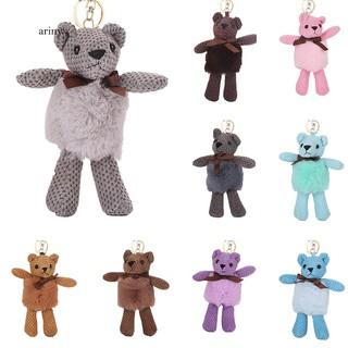 ★ Soft Animal Bear Keychain Car Key Ring Women Handbag Bag Pendant Decor Gift