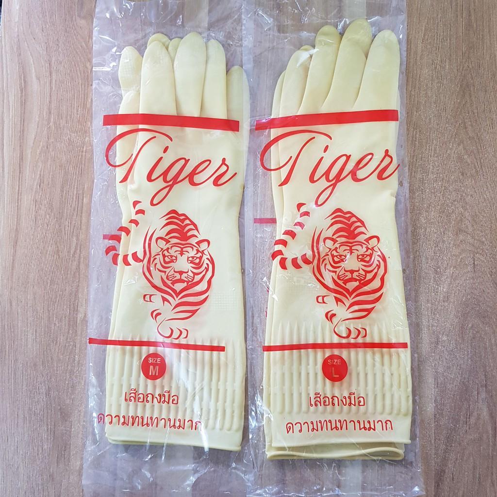 [Mã 267FMCGSALE giảm 8% đơn 500K] Găng Tay Cao Su Tiger Thái Lan