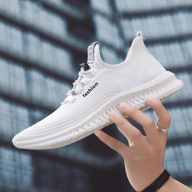 Giày sneaker vải nam - Kiểu dáng Hàn Quốc hot nhất 2019 - 2 màu đen, trắng - G124