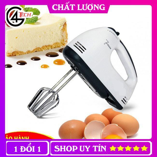 Máy đánh trứng cầm tay Cao cấp 7 cấp độ cực mạnh dùng đánh trứng, khuấy cafe, trộn bột, đánh kem Bảo hành 6 tháng