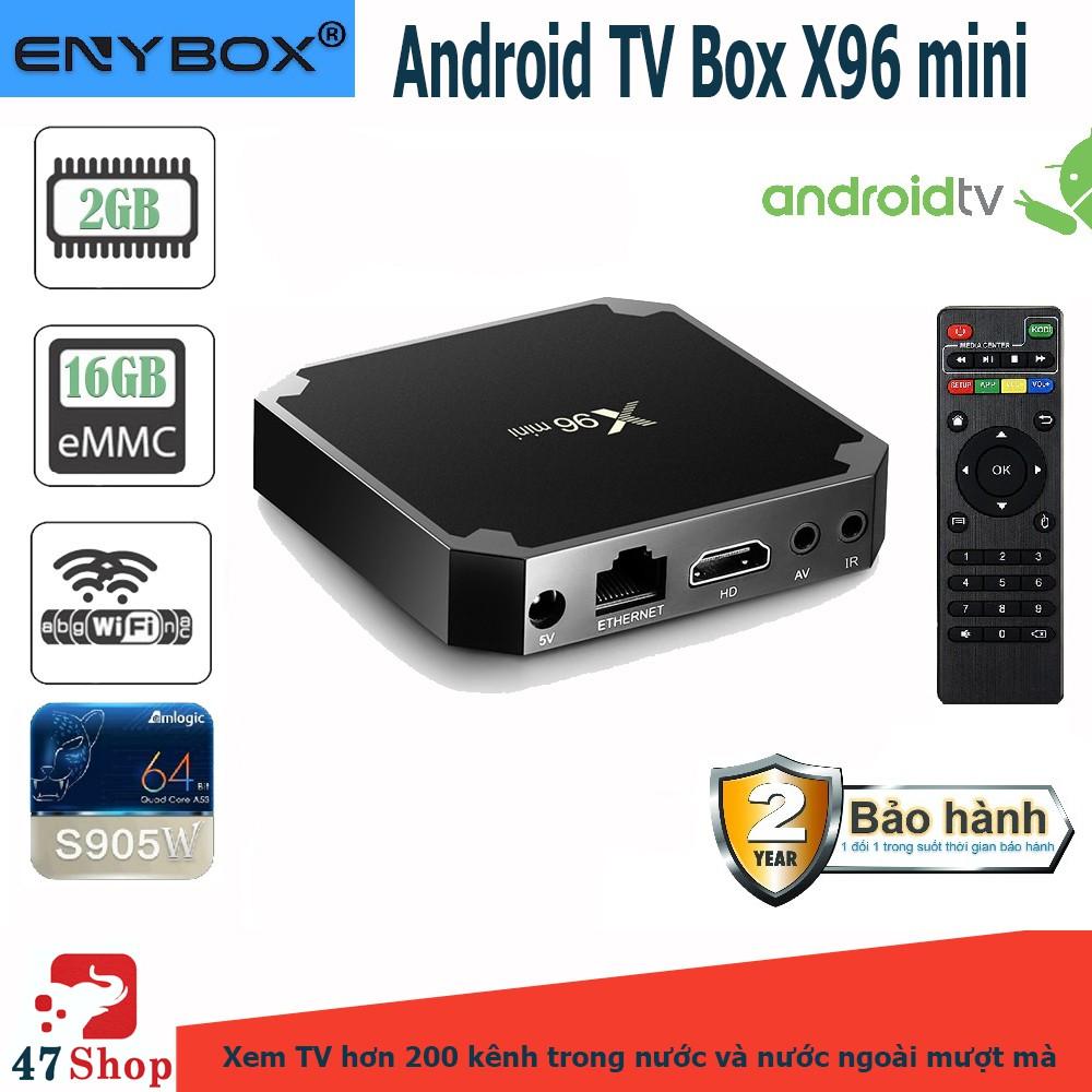 Android TV Box X96 mini phiên bản 2G Ram và 16G bộ nhớ trong - Chính hãng Eny - AndroidTV OS