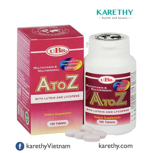 UBB® MULTIVITAMIN & MULTIMINERAL A TO Z: Vitamin và Khoáng Chất - 3514064 , 870917743 , 322_870917743 , 285000 , UBB-MULTIVITAMIN-MULTIMINERAL-A-TO-Z-Vitamin-va-Khoang-Chat-322_870917743 , shopee.vn , UBB® MULTIVITAMIN & MULTIMINERAL A TO Z: Vitamin và Khoáng Chất