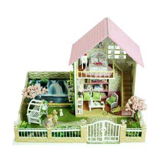 Mô hình nhà gỗ búp bê dollhouse DIY – 13019 Sakura Love