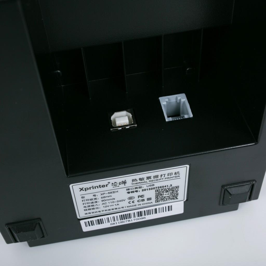 Máy in hoá đơn Xprinter 58IIH + Tặng Free 5 cuộn giấy in nhiệt