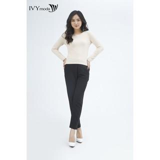 Áo thun cổ tròn dài tay nữ IVY moda MS 58M3915 thumbnail