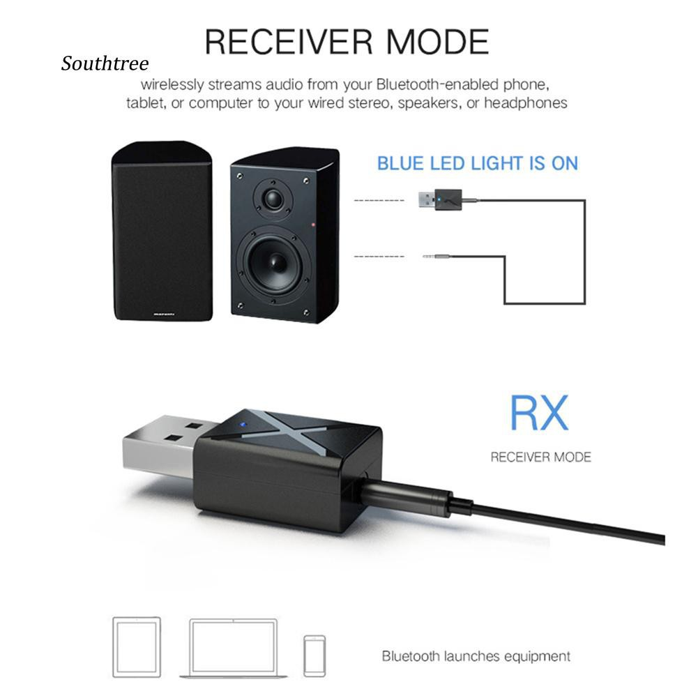 Sale 70% Thiết bị tín hiệu âm thanh Bluetooth 2 trong 1 cho TV / PC / xe hơi, As shown Giá gốc 87,000 đ - 62A171