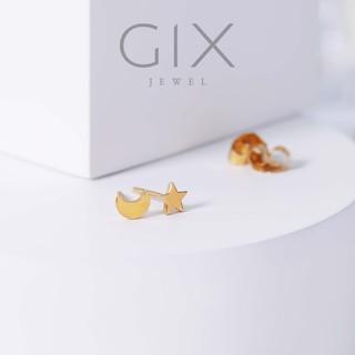 Bông tai bạc nữ mặt trăng ngôi sao mạ vàng đơn giản đẹp Gix Jewel SPGBT13 thumbnail