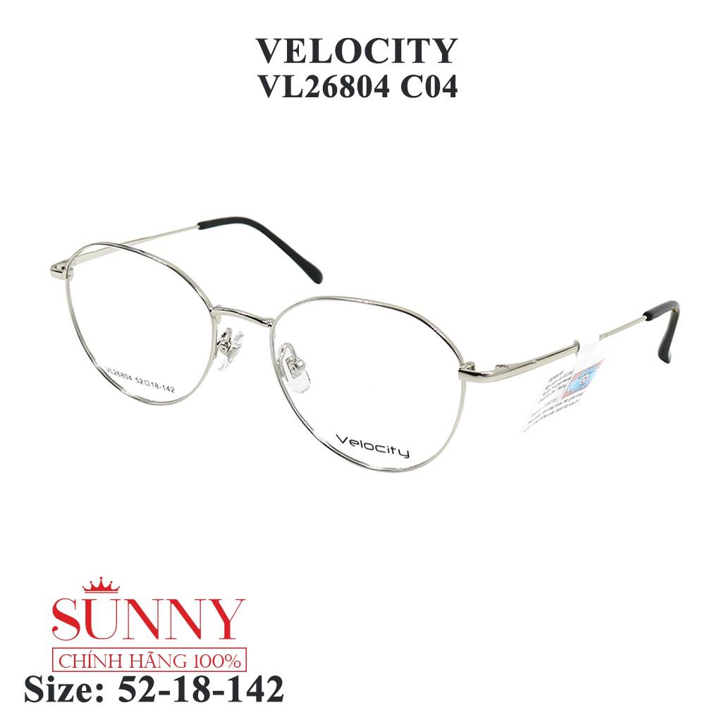 VL26804 – gọng kính kim loại Velocity chính hãng, bảo hành toàn quốc