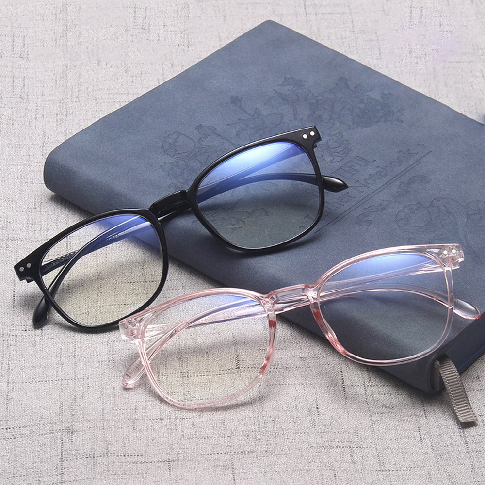 WONDERFUL Women Optical Eyewear Vision Care Computer Goggles Anti-blue Light Glasses Oversized Fashion Classic Retro Eyeglasses