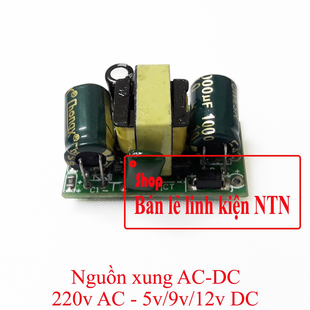 Bộ nguồn xung 110v/220v AC ra 5v/9v/12v DC