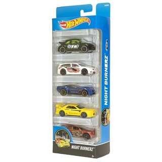 Xe mô hình 1:64 Hot Wheels 5 pack – Night Burnerz 2017