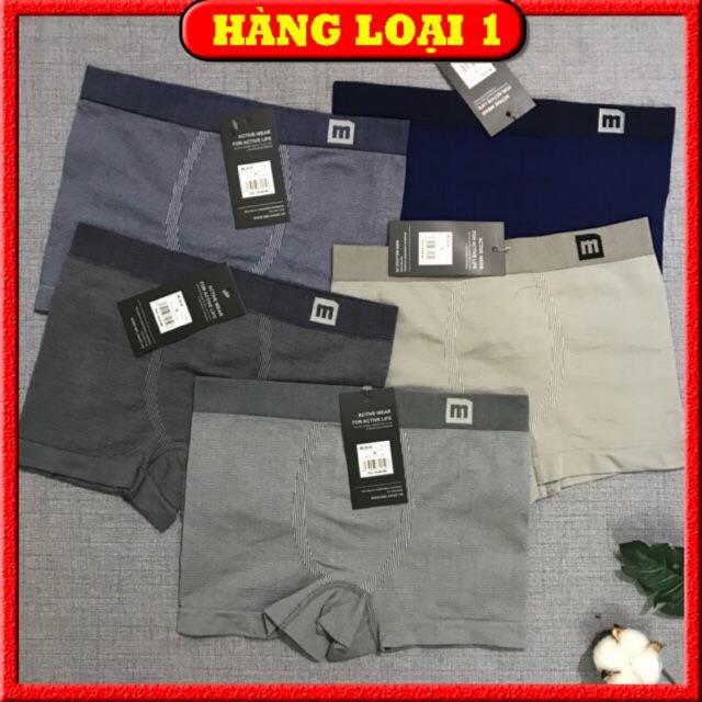 Quần lót nam boxer, quần sịp đùi nam cao cấp MELANGE và BiZMEN xịn, dệt không đường may chất cotton siêu mát
