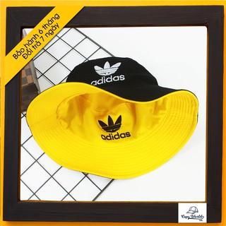 Mũ Bucket 2 Mặt Vàng Đen Adas / nón tai bèo / mu tai beo hai mat vang den / vành / non vanh / xo / xô [BH6T]