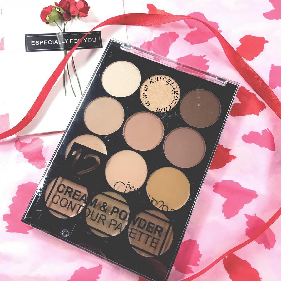 Bảng Phấn Mắt Và Tạo Khối Beauty Creations 12 Color Cream & Contour Palette