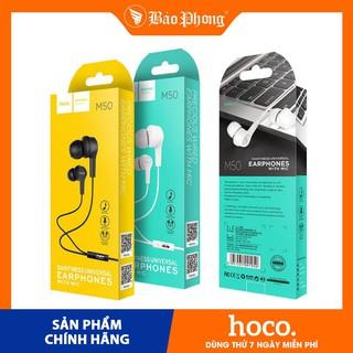 Tai nghe dây HOCO M50 CÓ MICRO ĐÀM THOẠI JACK 3.5mm Dành cho điện thoại iPhone Xiaomi Huawei Samsung Oppo Realme rẻ đẹp