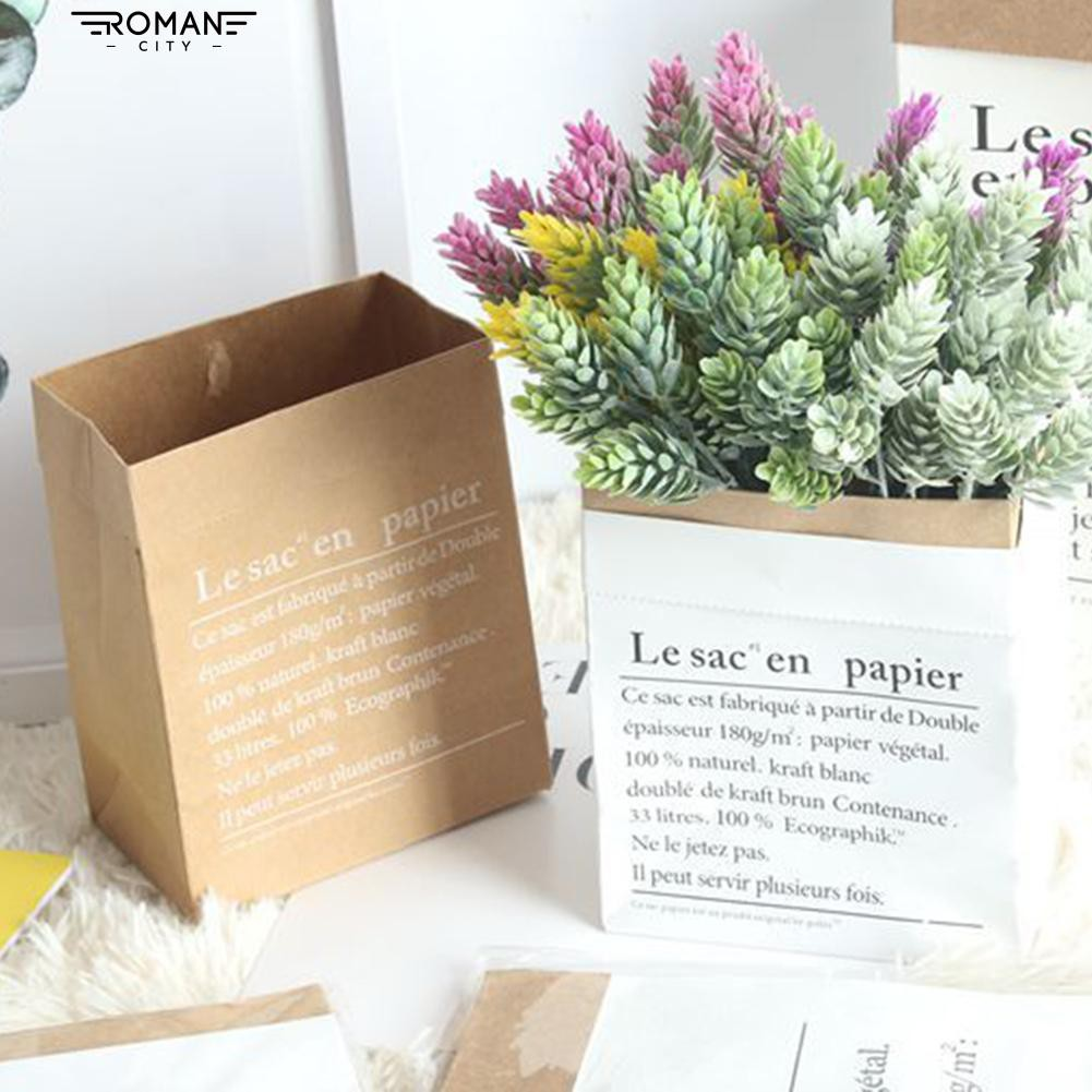 Multifunction Container Kraft Paper Storage Bag Decor