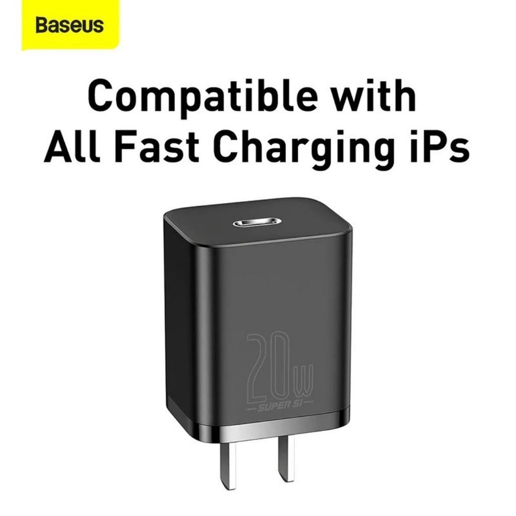 Củ sạc nhanh 20W cho IPhone 12 Baseus Super Si Quick Charger (Kèm Dây Cáp Sạc 20W)