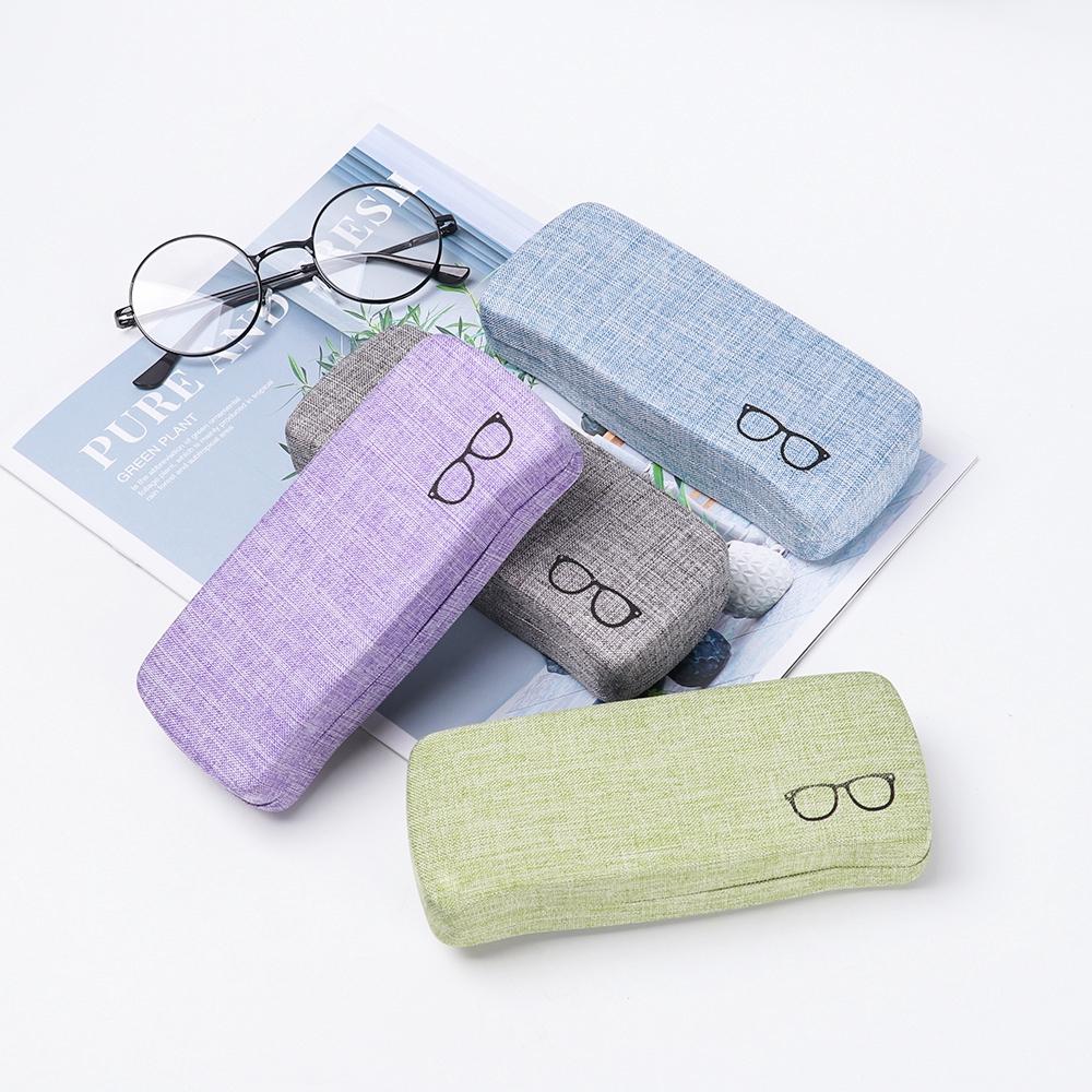 MIHAN1 1Pcs Retro Fashion Men Women Metel Linen Cloth Glasses Box
