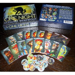 Popular Party Board Game ONE NIGHT ULTIMATE WEREWOLF Family Card Game Ready Stock