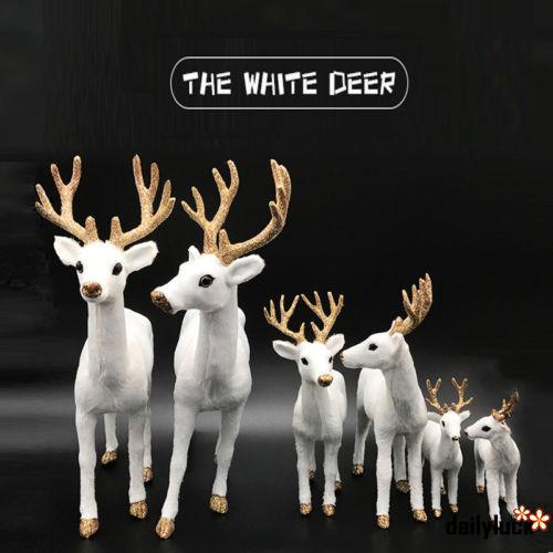 CLC-Christmas Deer Reindeer Santa Craft Elk Xmas Home Tree Decor Ornament Supply