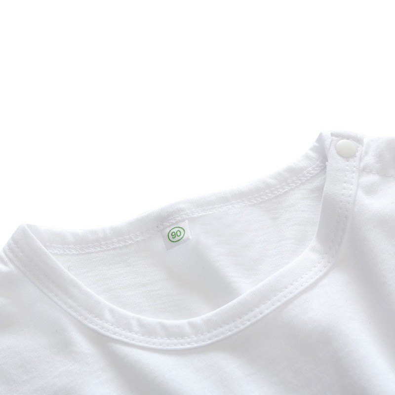 Bộ áo dài tay in chữ + quần dài in họa tiết tam giác cho bé
